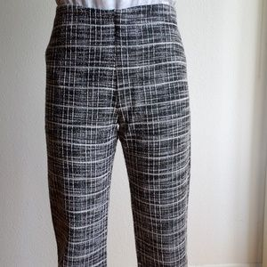 Zara Plaid Gingham Cropped Frayed Pants Small